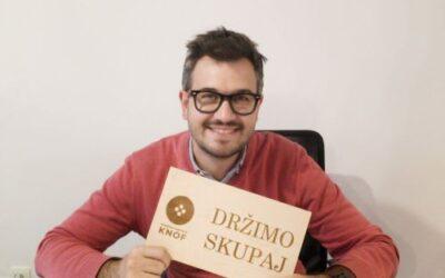 Podajajoč intervju s Kristijanom Pinosa, projektni vodja